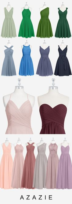 Azazie is the online destination for special occasion dresses. Our online boutique connects bridesmaids and brides with over 600 on-trend styles, where each is available in colors. Dusty Rose Bridesmaid Dresses, Dusty Rose Dress, Bridesmaids, Wedding Dresses, Fashion Dress Up Games, Fashion Dresses, Party Looks, Maid Of Honor, Special Occasion Dresses