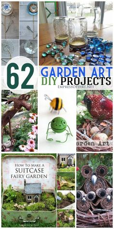 62 DIY Garden Art Projects using repurposed and recycled materials. #empressofdirt #gardenart #crafts