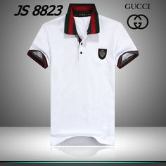 ralph lauren outlet store Gucci Black Logo Striped Collar Short Sleeve Men\u0026#39;s Polo Shirt White [