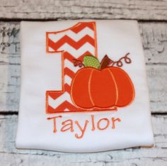 Boy's Pumpkin Birthday Shirt Halloween by thesimplyadorable