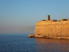 St Elmos Fort at Sunset - Malta 2013