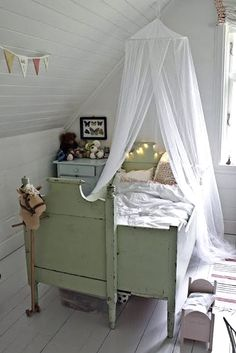 Darling nursery with vintage items.