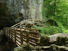 One of the trails at Maquoketa Caves State Park | This state park boasts more caves than any other state park in Iowa. Hiking trails connect the commonly explored caves, providing a variety of options for visitors. Take some time to camp, cave, bike, hike, and more!