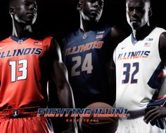 New Nike Fighting #Illini basketball uniforms for 2014-15, introduced on April 16, 2014. http://www.fightingillini.com/identity