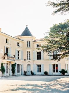 South of France Wedding at Chateau dAlphéran Light Blue Shutters
