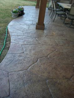 Flagstone Stamped Concrete Gallery - Decorative and Stamped Concrete Patios in Dallas, Plano and Surrounding Texas TX