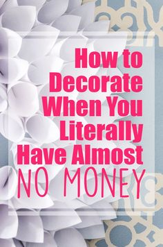 Do you want to create a beautiful home but money is tight? Here are 10 great tips for How to Decorate on a Tight Budget. You can make a beautiful home on a small budget. save money at home, budget home decor Do It Yourself Furniture, Do It Yourself Home, Home Projects, Projects To Try, Deco Originale, Diy Décoration, Diy Interior, Interior Decorating, Decorating Tips