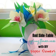 Side Table DIY Spring Flower Vase