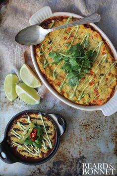 Chili Polenta Pot Pie – 2 Ways (Gluten Free & Vegan)