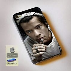 "Cool Photo Harry Style One Direction Print On Hard Plastic For iPhone 4/4s, Black Case  This case is available for: iPhone 4/4S iPhone 5/5S iPhone 6 4.7"" screen Samsung Galaxy S4 Samsung Galaxy S5 iPo"