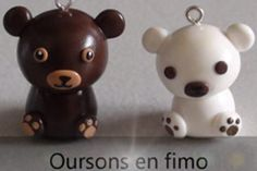 DIY Idée fimo simple à réaliser : Oursons en fimo .