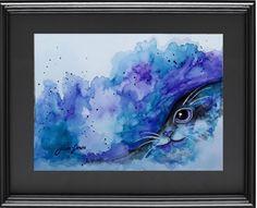 Original Watercolor Painting Cat  9x12 por LimonArtStudio en Etsy