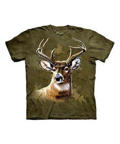 Green Camo Deer Tee - Kids #zulily #zulilyfinds