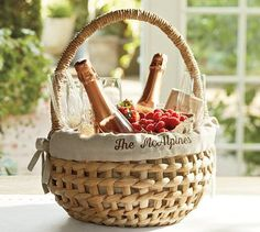 Woven Basket with Personalized Liner #potterybarn