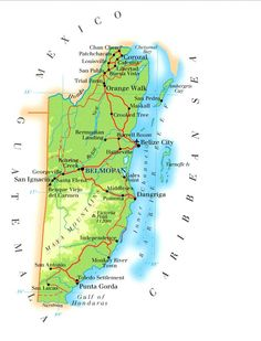belize | Map of Belize, Belize Maps - Mapsof.net