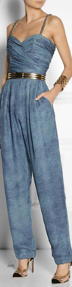Balmain ● Tie-dyed silk-chiffon jumpsuit