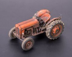 1:43 Hobbies Someca SOM 35 (1960) Metal Toy Tractor by Lao Kit