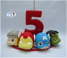 Fondant Numbers, Pasta Flexible, Cake Toppers, Biscuits, Avengers, Clay, Superhero, Photo And Video, Instagram