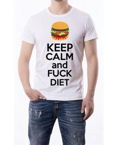 T-Shirt Keep calm and fuck diet