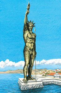 Seven Wonders of The Ancient World: The Colossus of Rhodes. Ancient Ruins, Ancient Rome, Ancient Greece, Ancient Art, Ancient History, Modern History, Art History, Great Pyramid Of Giza, Native American History