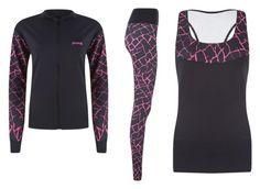"""PIXIE Sportswear Pink Cracked Set"" by miranda-van-driel on Polyvore featuring mode, sportswear, handmade, pixie en madeinholland"