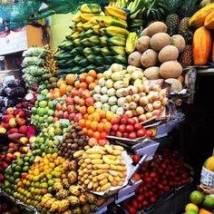 Quito, Quito, Ecuador - Fresh fruit at the market in Quito,...