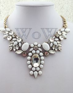 2013 brand Jewelry  Crystal Flower Choker Fashion Necklace Women Exaggerate resin luxury Chunky Statement necklaces & pendants!