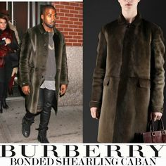 Kanye West y su Bonded Shearling Caban de Burberry Prorsum | Male Fashion Trends