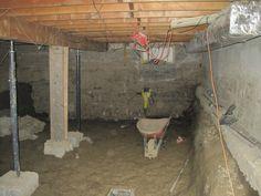 Underpinning Foundation wall