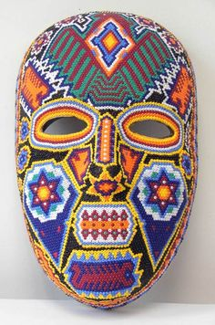 Mexico, Huichol beaded mask