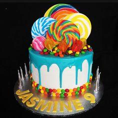 Candy birthday cake