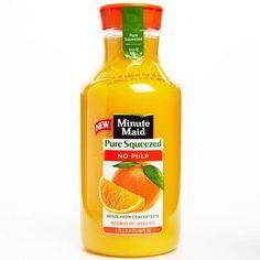 Best Orange Juice: Minute Maid Pure Squeezed No Pulp 100% Orange Juice