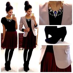 """The """"Hello, Gorgeous!"""" blog. This young lady has posted over 400 photos of her workday outfits (and variations). Fun, affordable, and versatile, her blog can give you great inspiration for dressing stylish yet affordable. You'll even get ideas for how a piece you have might be used in several different outfits."""