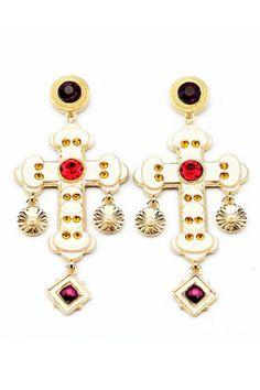 Cross Drop Earrings - OASAP.com