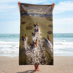 Shackleford Horses Beach Towel