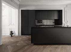 Minimalist Kitchen Design Ideas Stripping a certain space of his unnecessary things makes a space minimalist. In most cases, this art is achieved by design when a house is new when people just … Modern Apartment Decor, Apartment Design, Apartment Therapy, Wood Floor Kitchen, Kitchen Flooring, Minimalist Kitchen, Minimalist Decor, Minimalist Interior, Minimalist Living