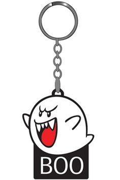 Nintendo Rubber Keychain Boo 6 cm
