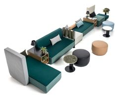 BIKINI ISLAND - Designer Sofas from Moroso ✓ all information ✓ high-resolution images ✓ CADs ✓ catalogues ✓ contact information ✓ find your. Geometric Furniture, Modular Furniture, Furniture Plans, Table Furniture, Outdoor Furniture Sets, Furniture Design, Furniture Nyc, Furniture Stores, Cheap Furniture