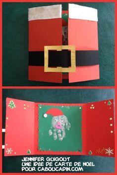 une idée de carte de Noël http://www.caboucadin.com/activites-de-noel.php