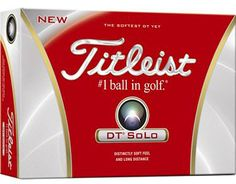 Titleist DT Solo Personalized Golf Balls