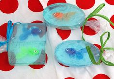 *** I NEED SOME OF THESE~ THEY ARE TOO CUTE!!!!!  Fishy 2 oz bar of soap by bodyluxebym on Etsy, adorable little party favors or a great way to get your kids to wash with soap!!