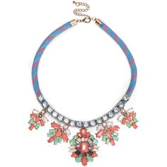 Sole Society Stone And Friendship Statement Necklace (€9,57) ❤ liked on Polyvore featuring jewelry, necklaces, blue combo, cord necklace, blue statement necklace, blue necklace, multicolor statement necklace and multi color statement necklace