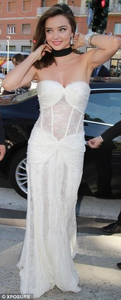 Attention to detail: The finer details of her standout attire included a pretty, jewelled ...