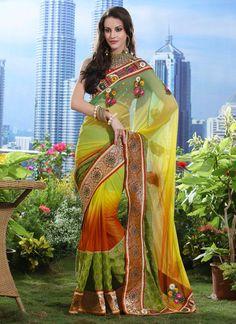 Charming Net Saree
