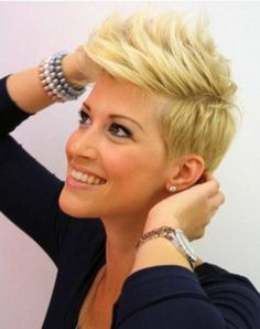 23 Short Layered Haircuts Ideas for Women - PoPular Haircuts Short Punk Hair, Short Layered Haircuts, Cute Hairstyles For Short Hair, Short Hair Styles, Pixie Haircuts, Short Blonde, Blonde Haircuts, Hairstyles 2016, Blonde Pixie