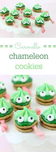 Chameleon cookies. Cookie time! I just love a good animated movie, always have and always will. As a big animal lover, the upcoming movie, The Wild Life is the next one on my radar. This adorable movie will be out in theaters on September 9th, so make sure to save the date. To get ready for this fun new flick, I wanted to make a fun treat based on one of the characters I fell in love with instantly. Meet the character Carmello with these cute DIY chameleon cookies! #TheWildLife #ad