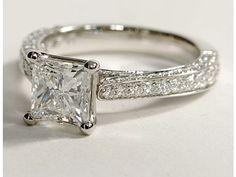 2 carat princess cut engagement ring
