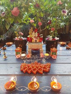 Diwali Decorations At Home, Home Wedding Decorations, Festival Decorations, Flower Decorations, Gauri Decoration, Thali Decoration Ideas, Decoration For Ganpati, Decor Ideas, Ethnic Home Decor