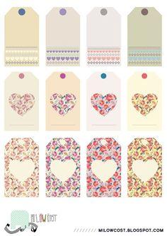 imprimibles: etiquetas I love flowers