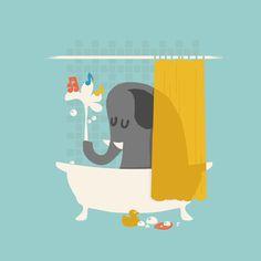 Sing when you shower Art Print